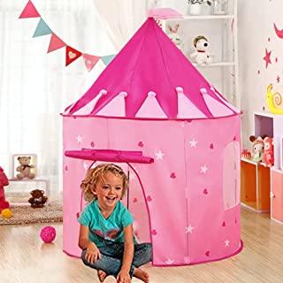 Luminous Dinosaur Caomoa Cama para ni/ños Carpa Unicornio Fantas/ía Pop up Jugar Carpas Princess Castle Magic Playhouse Regalo de cumplea/ños para ni/ñas Dormitorio Decoraci/ón