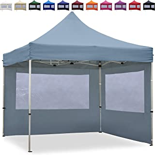 Carpa plegable Toolport- aluminio- color gris oscuro- tamano 3x3m - 2 Seitenteile- 118.11 x 118.11 x 133.07inches