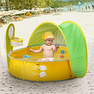 chalkalon Carpa de Playa para Bebe- Carpa para Piscina Sun Shelter Portatil con Proteccion UV Kids Ball Pit Play Carpa Remo Interior y Exterior Piscina de Playa con Dosel Carpa para Ninos Bebes