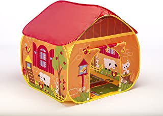 Childrens Pop Up Play Tent Designed like a FarmYard with a Unique Printed Play Floor : Boys - Girls Toy Play Tent - Playhouse - Den - Great Tractor Toy