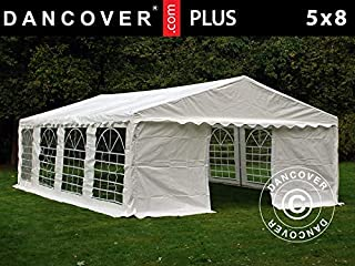 Dancover Carpa para Fiestas Carpa Eventos Plus 5x8m PE- Blanco