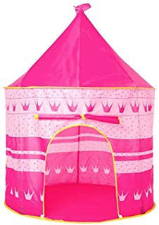 Euopat Princess Castle- Kids Kids Wizard Y Princess Castle Carpa- Principe Plegable Pop Up Play Carpa House Toy Outdoor Carpa para Ninos para Ninas-Ninos De Interior Y Exterior