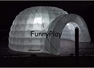 F&zbhzy Carpa Lnflatable Igloo Air Dome Tent Eventos para Fiestas- Carpa de iglu de Nieve Inflable con iluminacion led- Carpa Inflable