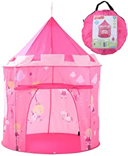 Georgie Porgy pequena Hada del Unicornio ninas Pop Up Play House portatil Plegable Carpa Castillo Cubierta al Aire Libre Juega Jardin (pequena Hada Unicornio Ciudad Rosa)