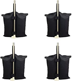 Grado Industrial Heavy Duty bolsa de pesos con doble costura- pierna pesos para Pop Up carpa peso bolsas de arena bolsa de pies 4pcs-pack, Color negro. (canopy weightsbag- black)