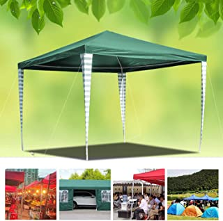 huigou 3x3m Carpas Pabellon Estable Carpa para Fiesta toldo Impermeables Gazebo Estable facil de desplegar Costuras Selladas de PE