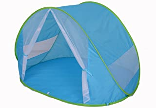 Kiddus Tienda Carpa Refugio de Playa. 100- Proteccion Anti Rayos UV. Pop up automontable y Plegable. Paravientos. Tela Muy Ligera. Ideal para Proteger del Sol y Viento Ninos y Bebes