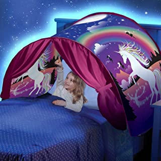Kunmuzi Tienda de Ninos-Magical World Carpa Impermeable Ensueno Wizard Children Play Cama Tienda Campana (Unicornio)