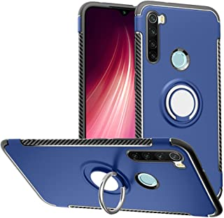 Labanema Funda para Redmi Note 8- 360 Rotating Ring Grip Stand Holder Capa TPU + PC Shockproof Anti-rasgunos telefono Caso proteccion Cascara Cover para Xiaomi Redmi Note 8 - Azul
