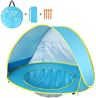 Lelestar Pop Up Bebe Playa Tienda Impermeable Anti-UV Sol Refugio con Piscina Ninos Al Aire Libre Sombrilla Toldo Tienda