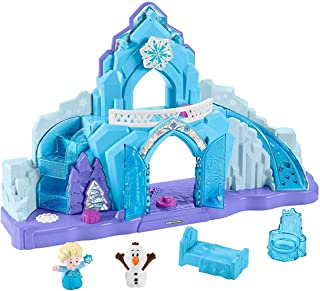 Little People- Disney Frozen Elsa Palacio de Hielo- Juego de iluminacion Musical- Multicolor (Mattel GGV29)