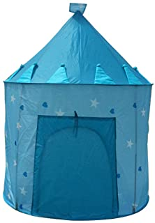 MXECO Children´s Castle Yurt Game Tent Tienda de Juegos Plegable para ninos de Interior House Princess Carpa para ninos Carpa Luminosa (Azul (Carpa))