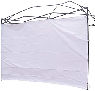 NINAT Paredes Lateral de Privacidad para 3M Gazebos Carpa Parasol Pabellon Impermeable (Marco de Toldo no Incluido) 1 Blanco Pared del Panel