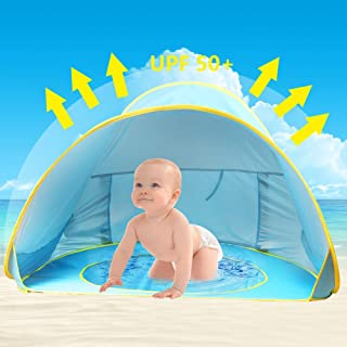 Oummit Tienda de Playa para Bebe nino Pop-up Automatico de Campana viaje plegable y Portatil con Proteccion sol Anti UV.