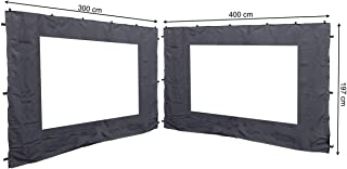 Quick-Star 2 Laterales con Ventana de PVC para Rank Carpa 3 x 4 m Aspecto Pared Antracita