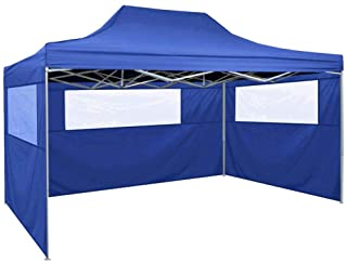 vidaXL Carpa Pabellon Plegable 3 Paredes Cenador Pergola Eventos Fiestas Patio