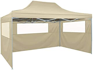 vidaXL Carpa Pabellon Plegable 3 Paredes Cenador Pergola Fiestas Eventos Patio